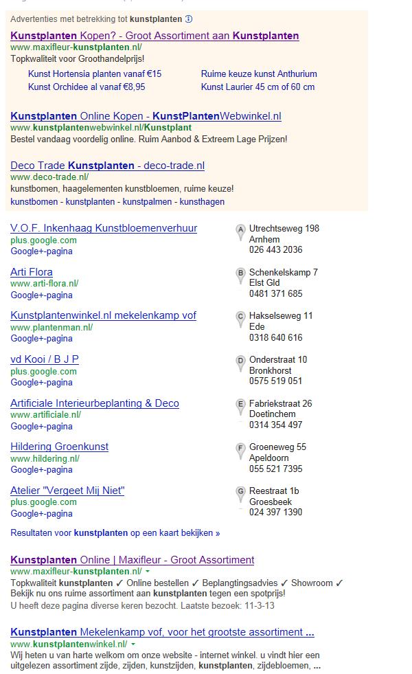 maxifleur google resultaat