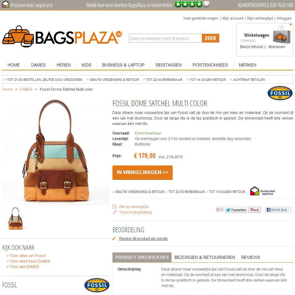 Bagsplaza productpagina
