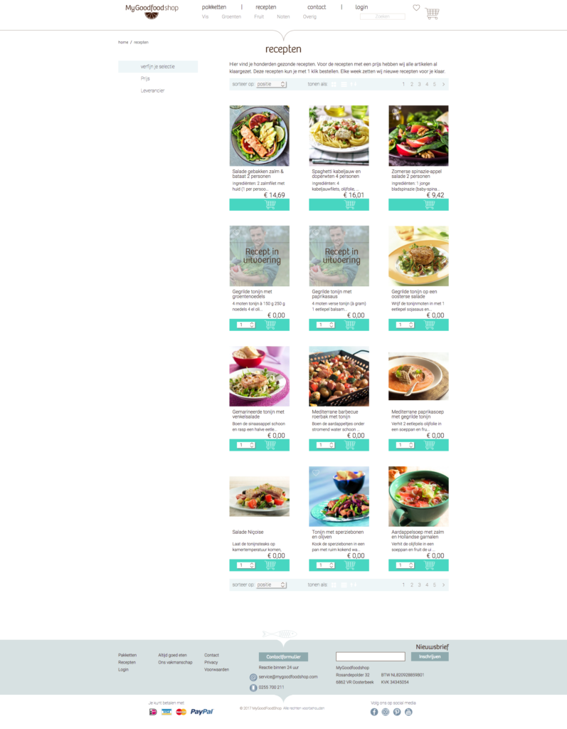 My good food category page